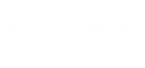 White Lust Lash and Brow Bar logo on transparent background